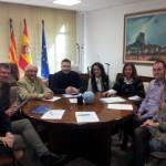 La presentación de la Nueva Junta (casi al completo) a la Diputación de Alicante, fotos del día de la visita a Alejandro (15 de enero de 2013).
