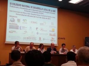 Imagen de la mesa de trabajo día 8 de junio 2013, IX Coloquio Nacional de Desarrollo Local