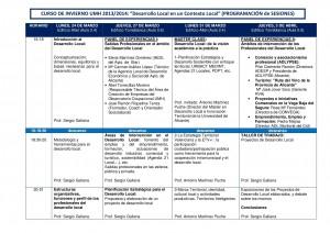Programa sesiones curso DDLL UMH 2014
