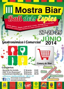 "III Mostra Biar ""Ball dels Espies"" (27-28-29 junio)"