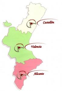 mapa Adelypse en Comunidad Valenciana