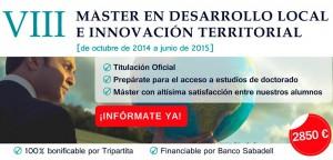Máster en Desarrollo Local e Innovación del Territorio de la Universidad de Alicante