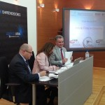 foto de la firma de convenio entre Adlypse Alicante y los CEEI de Alcoy y Elche