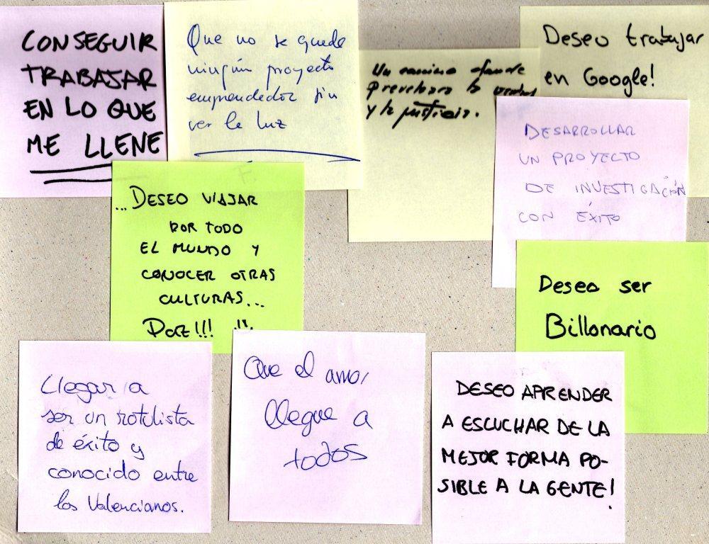 Muro de los Deseos de San Emprendo DPE Alicante 2014